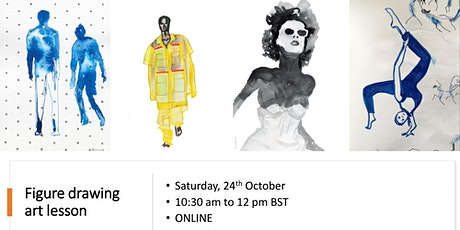 Figure drawing art lesson  on zoom tickets