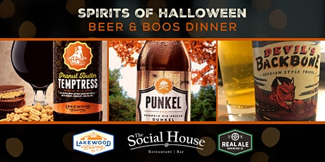 Spirits of Halloween Beer & Boos Dinner tickets
