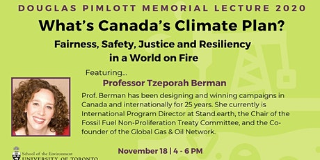 Douglas Pimlott Memorial Lecture: What's Canada's Climate Plan? tickets