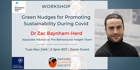Workshop: Green nudges for promoting sustainability during Covid tickets
