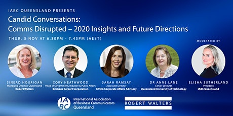 Candid Conversations: Comms disrupted – 2020 insights and future directions tickets