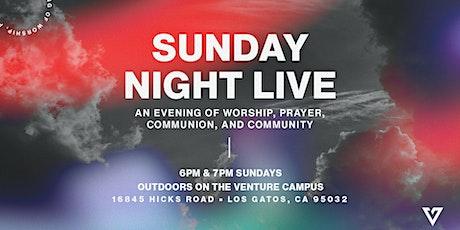 SUNDAY NIGHT LIVE  | NOVEMBER 1 • 6:00 PM
