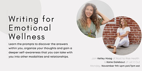 Writing for Emotional Wellness with Katie Dalebout tickets