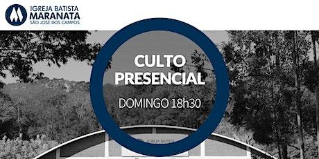 Culto - Presencial - NOITE | 25.10.2020 ingressos