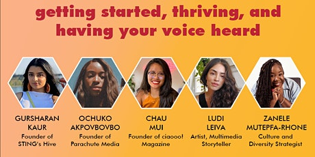 WOC In Media Panel: Getting started, thriving & having your voice heard. tickets