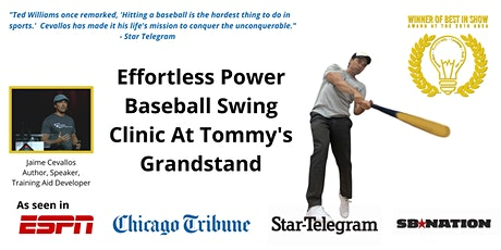Effortless Power Swing Clinic at Tommy's Grandstand tickets