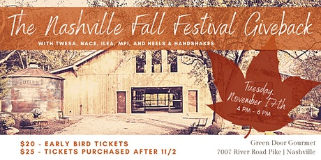 The Nashville Fall Festival Giveback tickets
