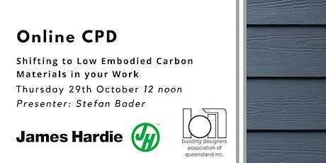 Online CPD: Shifting to Low Embodied Carbon Materials in your Work tickets