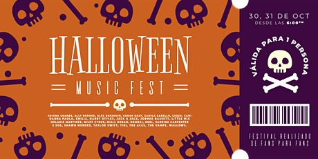 Halloween Music Fest boletos