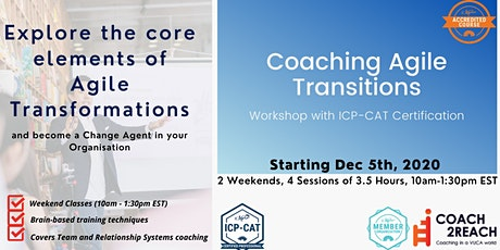Coaching Agile Transitions ICP-CAT Online -Enterprise Agile Coach tickets