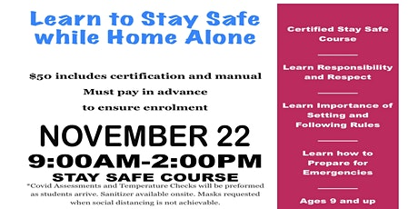 Strathmore Stay Safe/Home Alone Course tickets