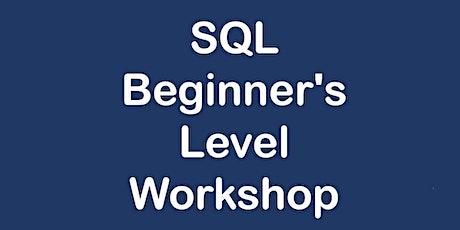 SQL Beginner's Level Workshop tickets