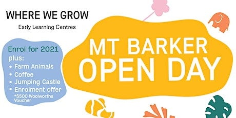Where We Grow Mt Barker Open Day tickets
