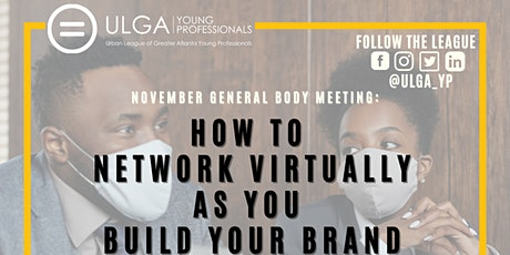 November GBM: How to Network Virtually as You Build Your Brand tickets