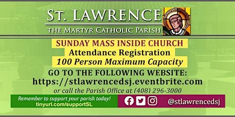 INDOORS: SATURDAY, October  24 @ 5:00  PM Vigil Mass Registration