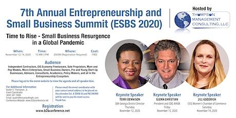 7th Annual Entrepreneurship and Small Business Summit (ESBS 2020) NOV 12-14 tickets
