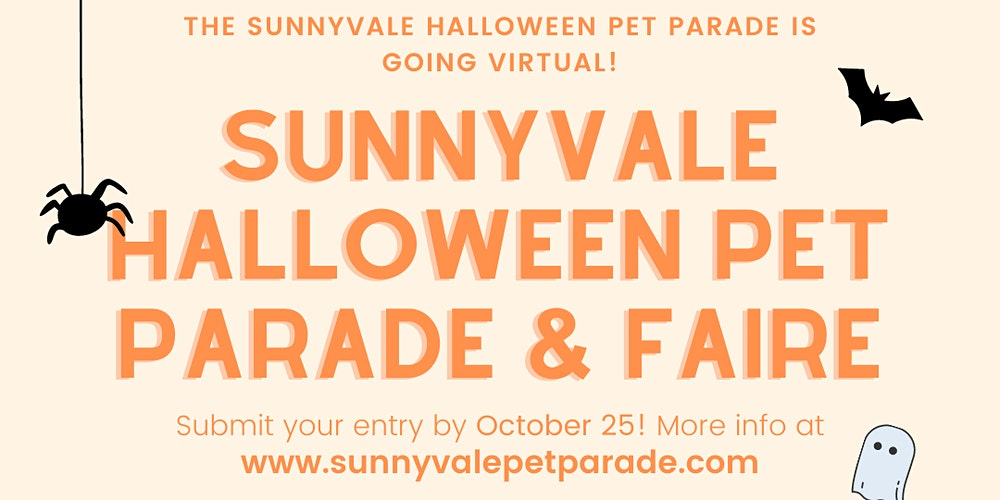 Sunnyvale Halloween Events For Kids Oct 2020 Sunnyvale Halloween Virtual Pet Parade & Faire Tickets, Mon, Oct