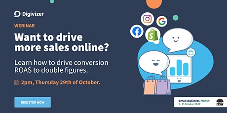 Do you want to drive more sales online? tickets