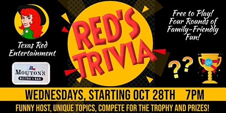 Trivia Night Wednesdays at Mouton's in Cedar Park, Texas - Free to Play tickets