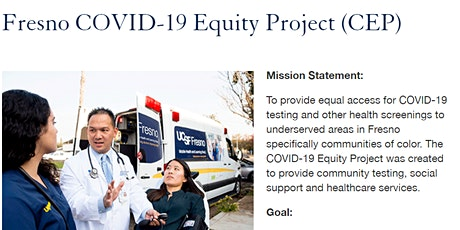 UCSF Fresno Mobile HeaL: COVID-19 Equity Project (CEP) tickets