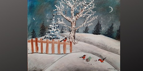 Coffee and Canvas Winter Scene tickets