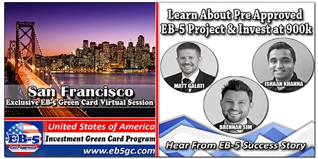 San Francisco EB-5 American Green Card Virtual Market Series tickets