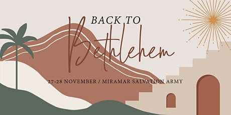 Back to Bethlehem: 27-28 November (5 sessions) tickets