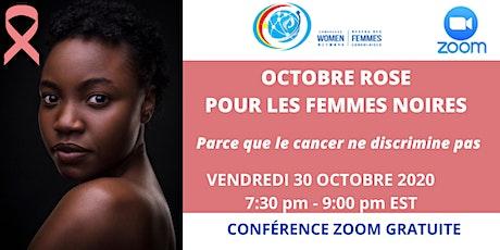 Octobre rose pour les femmes noires billets