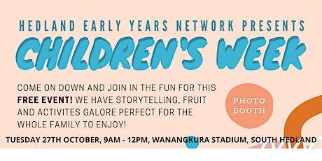 Port Hedland Children's Week Event 2020 tickets