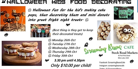 Halloween Kids Food Decorating tickets