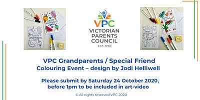 VPC Event – Colouring Card-Celebrating Grandparents / Special Friends Day
