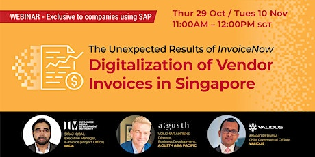 Webinar: Digitalization of Vendor Invoices in Singapore tickets