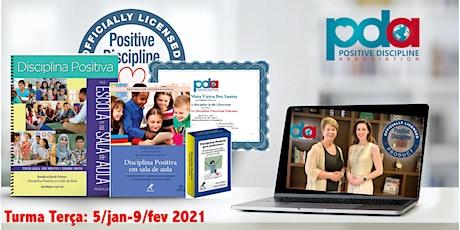 ONLINE - Certificação em Sala de Aula em Disciplina Positiva (`TERÇA) bilhetes