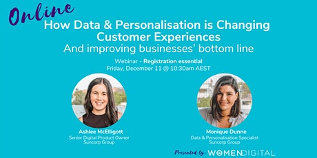 How Data & Personalisation is Changing Customer Experiences tickets