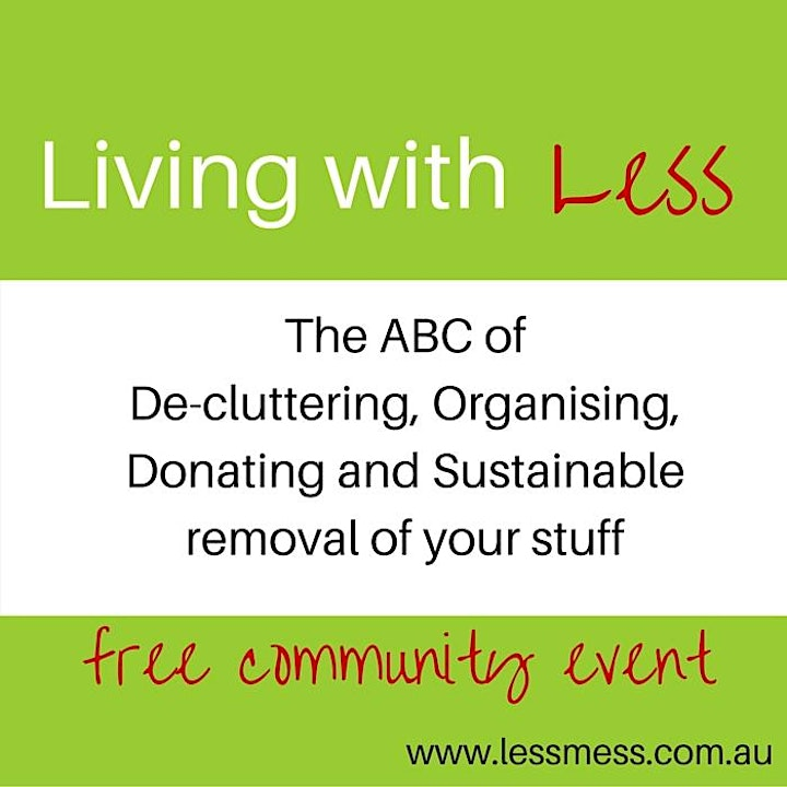 Living with Less: The ABC of decluttering, organising & sustainable living image