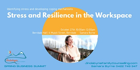 Stress and Resilience in the Workspace | Samara Byrne tickets