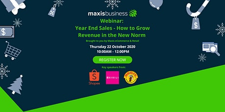 [FREE WEBINAR] Year-End Sales: How to Grow Revenue in the New Norm tickets