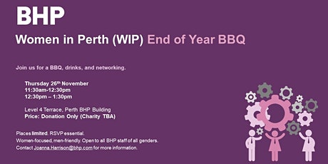 BHP Women in Perth | End of Year BBQ tickets