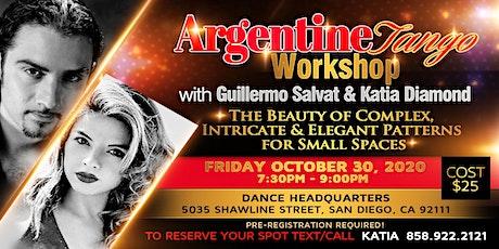 Argentine Tango Workshop with Guillermo Salvat & Katia Diamond in San Diego tickets