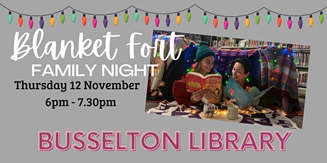 Blanket Fort- BUSSELTON Library tickets