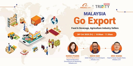 [Alibaba.com Malaysia Go Export] F&B and Agriculture Industry Sellers tickets