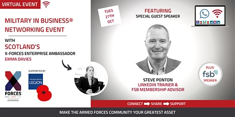 Military in Business Virtual Networking Event- Scotland tickets