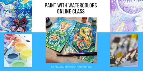 Painting With Watercolors - Online ART Class with Lana Chromium tickets