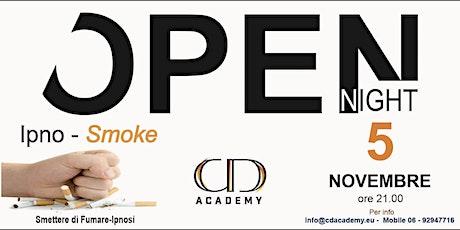 Open Night Ipnosi  x  Smettere di Fumare biglietti