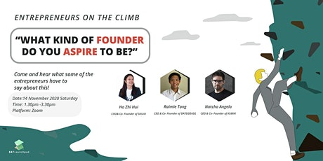What kind of founder do you aspire to be? tickets