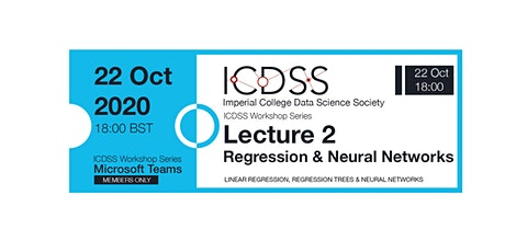 ICDSS Workshop #2: Regression and Neural Networks tickets