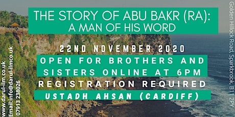 The story of Abu Bakr (ra): A man of his word tickets