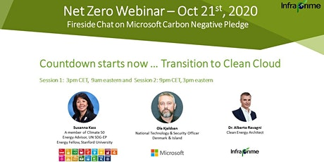 Fireside Chat: Microsoft Carbon Negative Pledge - Transition to Clean Cloud tickets