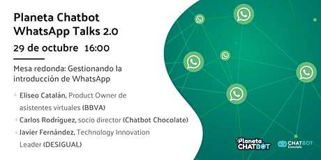 Planeta Chatbot WhatsApp Talk: mesa redonda ingressos