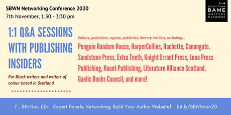SBWN Networking Conference: 1:1 Q&A Sessions With Publishing Insiders tickets